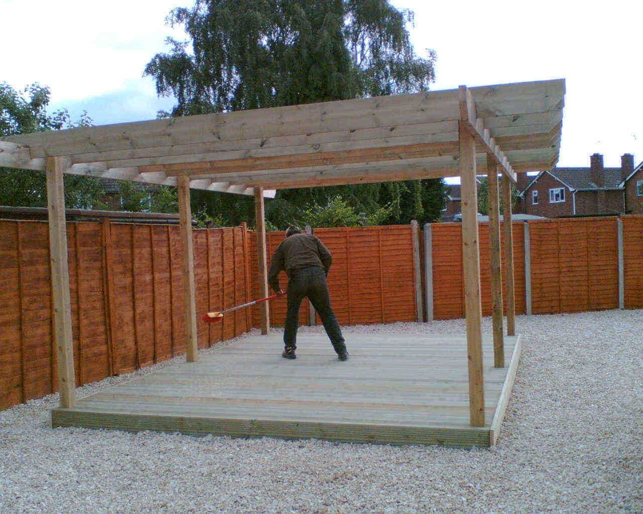 Terracing With Steps Pergola Decking